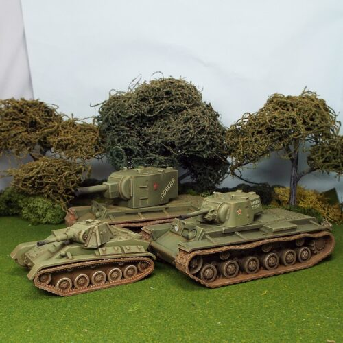 28mm 1/48 scale Soviet T70, KV1 and KV2 images updated.