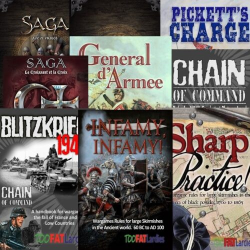 Various Rule books added to the shopping cart.